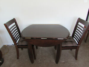 Drop Leaf Table & Chairs - Espresso