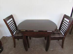 Drop Leaf Table & Chairs - Espresso
