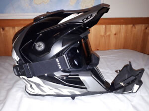 Snowmobile helmet and pants