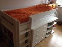 White Stompa bed with storage