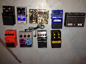 Multiple Guitar Pedals