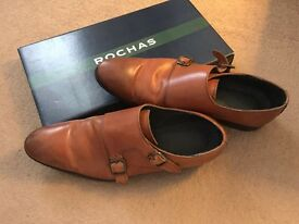Original ROCHAS Leather brogues Camel size 6