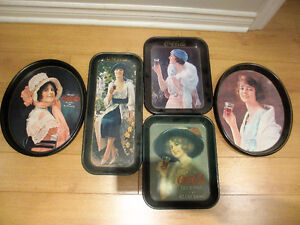 Five Reproduction Coca-Cola Serving Trays