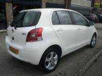 2010 Toyota Yaris 1.33 VVT-i TR 5DR 60 REG Petrol White