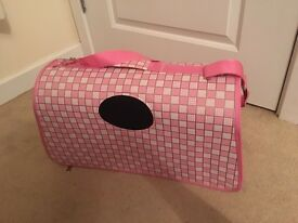 Small dog/ puppy or cat carry case