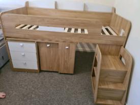 Made sleeper bed