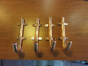 Solid copper coat hooks,lacquered