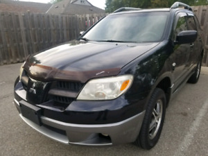2006 Mitsubishi Outlander 175km cert and 3600