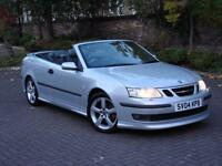 EXCELLENT RARE MODEL!!! 2004 SAAB 9-3 2.0 T AERO 210 2dr AUTO CONVERTIBLE, 1 YEAR MOT, WARRANTY