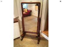 Stunning Full Length Large Victorian Mahogany Cheval Mirror