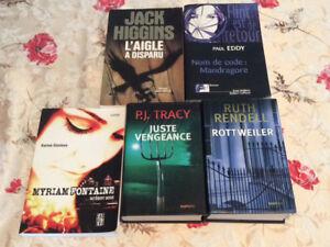 livres thriller 3$ chaque livres OU 10$ Le LOT De 5 livres