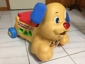 Fisher-Price Laugh & Learn Stride-to-Ride Puppy (French)