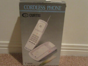 White Curtis Cordless Phone with Antenna