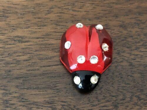 Ganz Miniature Acrylic Ladybug Figurine w/Clear Stones
