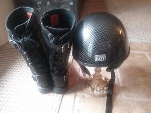 Helmet and boots