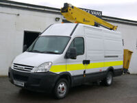 59 IVECO DAILY 50C15 MWB HIGH TOP CHEERY PICKER ACCESS PLATFORM WORKS VAN 1OWNER