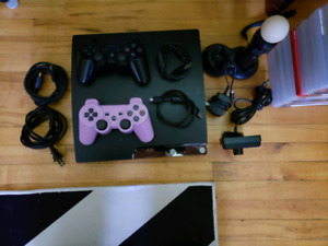 PS3 150GIG WITH 2 CONTROLLERS & 22 GAMES