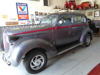 1938 Plymouth slant back 4 dr sedan
