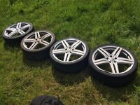 Audi A4 Alloy Wheels with Tyres 235 35 19 Inch 5 x 112 Fitment