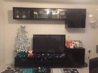 Black TV Unit and Glass Units Ikea REDUCED!!!