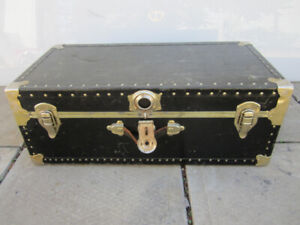 """Vintage trunk 12"""" X 16"""" X 32"""" WITH REMOVABLE COMPARTMENT"""