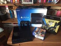 Playstation 4 500gb black+ games