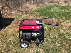 Honda Generator EG6500CL - used once, 2 years old