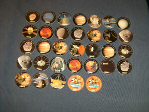 LOT OF 33 LIBERTY YOGOURT SPACE TRAVEL POGS-COLLECTIBLE!