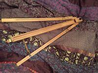 Artist easel - wooden tripod