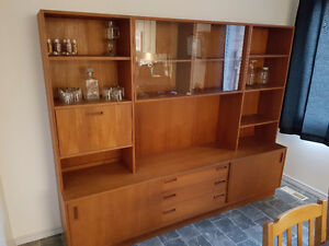 Solid Teak Wood Entertainment Unit For Sale  $900 OBO Edmonton Edmonton Area image 1