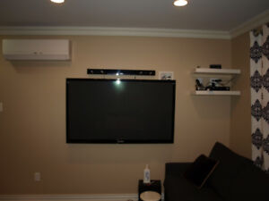 Wall Mount Tv / Entertainment Systems , Accent Lighting