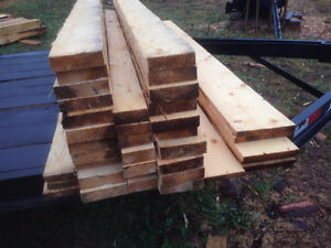 Various dimensions of lumber for sale