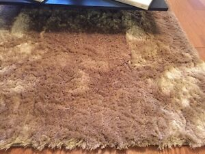 Beautiful silky area rug 5x7, brown - taupe color, so soft!