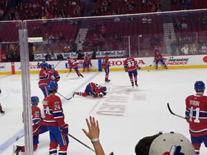 Montreal Canadiens Habs Tickets/Billets 112 DD Prestige Centre