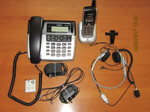Uniden telephone w/ answer./machine 5.8GHz  + 1 cordless handset