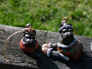 Schnauzer Christmas Ornaments: plush, bells, wreath, bobble-head