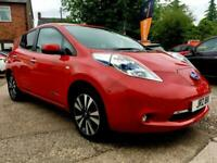 NISSAN LEAF TEKNA Red Auto Electric, 2015