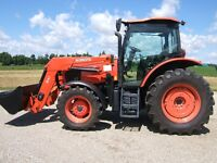 Kubota M100GX tractor with loader