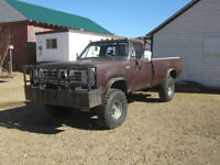 1975 Dodge Power Wagon Lifted 4x4 3/4 ton Mud or Trail