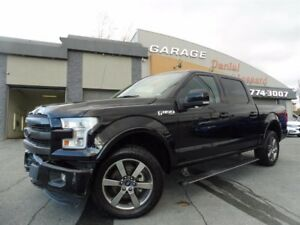 Ford F-150 LARIAT, 4X4 CREW, GPS, CUIR, TOIT PANO ET PLUS! 2016