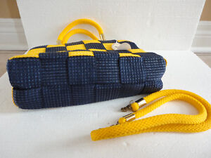 Brand new with tags women's yellow/blue colour block purse London Ontario image 8