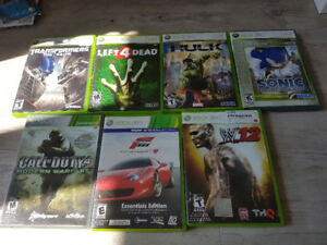 Xbox 360 games to sell (firm price)