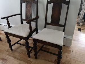 Solid Elm chairs, 5 chairs 100 years old