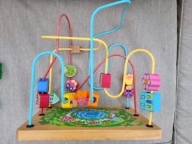 Activity Maze, Wooden Roller Coaster Learning Game