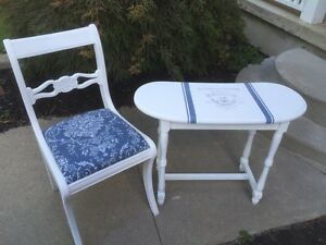 French inspired accent table and chair  Cambridge Kitchener Area image 4