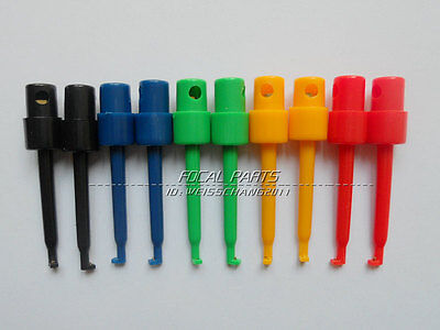 10pcs Lead Wire Kit Test Hook Clip Grabbers Test Probe Smtsmd F Multimeter M319