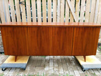 Mid Century Walnut Buffet. Refinished at Teakfinder!