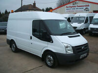 60 reg FORD TRANSIT T280 SWB MEDIUM ROOF DIESEL VAN, AIR-CON, BOTT RACKING 25k