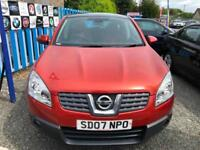 LOW MILEAGE 2007 Nissan Qashqai 1.6 ACENTA 3 MONTHS WARRANTY PANORAMIC SUNROOF