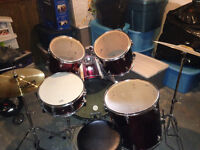 Westbury drum kit in new condition.  Maybe 10 hours of play time